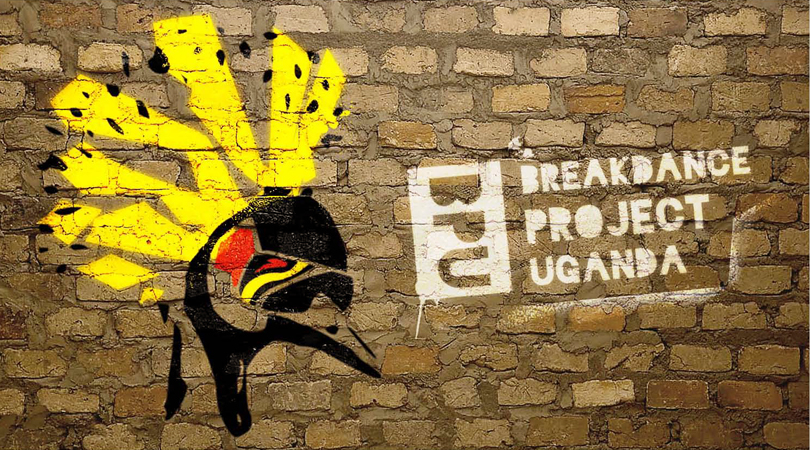 Breakdance Project Uganda Spray-painted wall