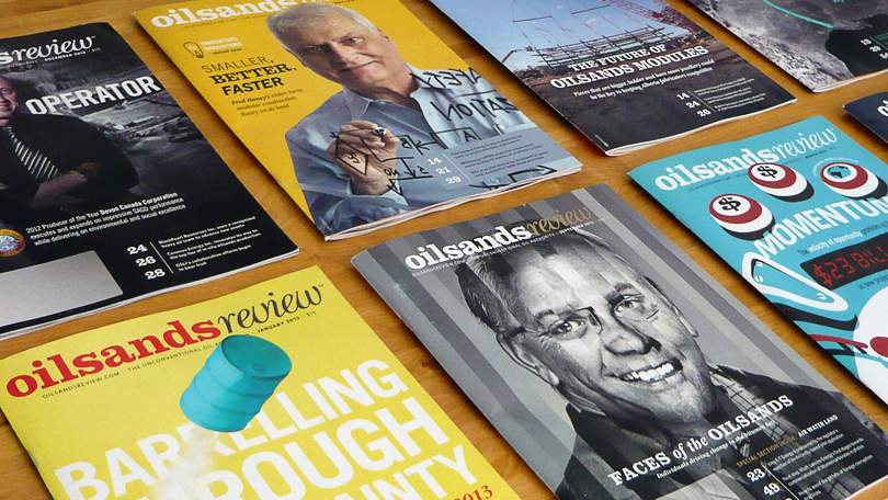 Oilsands Review, Magazine covers, Oilsands, Issues,  Business to Business publication, Trade Magazine